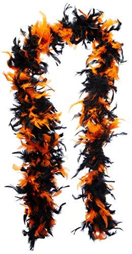 Bicolor Federboa - orange und schwarz