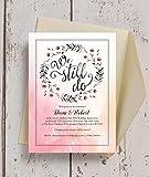 personalisierbar 'Love Sie dann, Love You Still' Zitat Hochzeitstag Einladungen mit Umschlägen (10Stück)