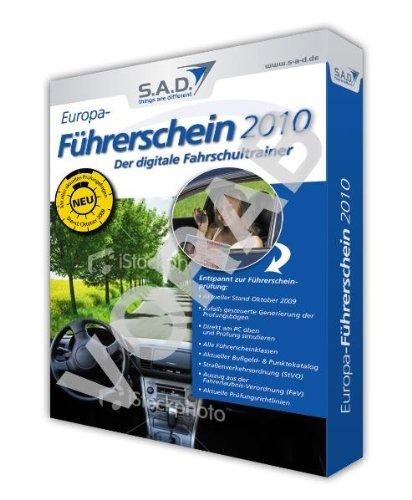 Europa-Führerschein 2010, CD-ROM Der digitale Fahrschultrainer. Entspannt zur Führerscheinprüfung. Für Windows 98/2000/XP/Vista