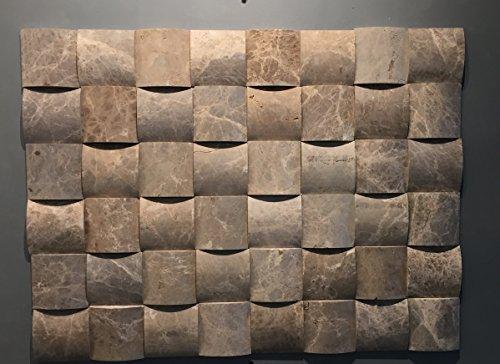 azulejos de mosaico de piedra natural/mosaico de mármol como pared piedra/piedra Pared/verblend piedra | revestimiento de pared para baño, cocina, vestíbulo o salón de piedra natural I..., marrón