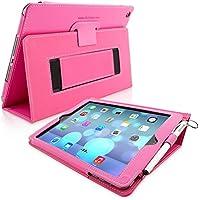 Snugg iPad Air Caso (Rosa), Copertina in Ecopelle Intelligenti, Rivestimento Interno di Qualità in Nabuk, Supporto Flip-stand con una Garanzia a Vita per Apple iPad Air