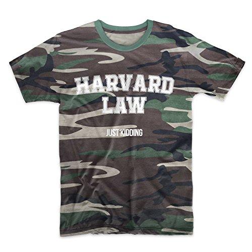 Harvard Law Just Kidding Camuffare Uomo T-Shirt Maglietta Camo Medium