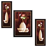 Delight Flower Painting with Brown Frame...