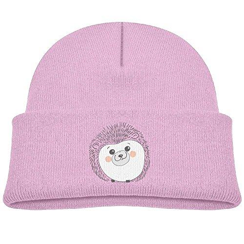 Boys&Girls Outdoor Sports Knit Cap Hedgehog Fashion Printed Child Watch Hat Pink