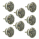#8: JP Hardware pack of 8 Ceramic Knobs for Cabinets & Cupboards| Drawer Pulls