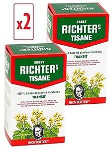 [ Prix en baisse ! ] [Top minceur !] Lot de 2 boîtes de Tisane infusion Ernst Richter 40g - 100% à base de plantes naturelles / Régulation du transit / Spécial Minceur / 2 x 20 sachets filtres de 2g
