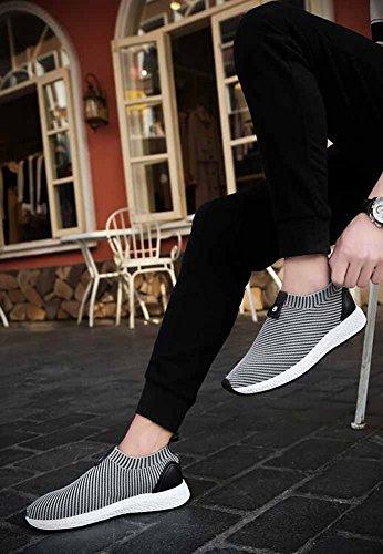 Uomini Scarpe Da Corsa 2017 Autunno Nuove Scarpe In Elastico Scarpe Sportive Casual In Bassa Scarpa Da Ballo Traspirante Gray