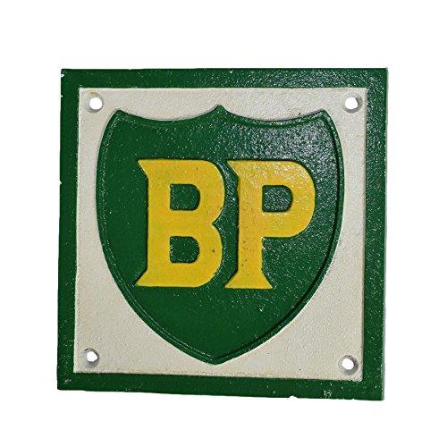 BP Treibstoff quadratisch Schild Plakette an der Wand der Werkstatt Shop Motor