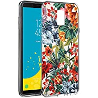 Eouine Funda Samsung Galaxy J6 2018, Cárcasa Silicona 3D Transparente con Dibujos Diseño Suave Gel TPU [Antigolpes] de Protector Fundas para Movil Samsung J6 2018-5,6 Pulgadas (Flor Colorida)