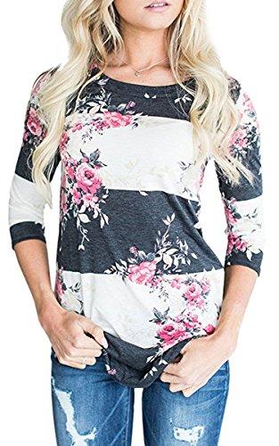 Zum Shop · ECOWISH Langarmshirt Damen Pullover Blumen Gestreift Rundhals  Tshirt Hemd Oberteile Tops Weiß XL 9bbd42d89f