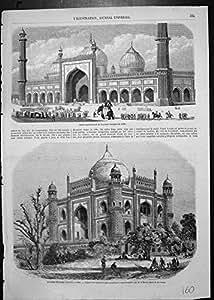 Mosquée Grande Delhi d'Impression de Tombe de Sentinelles Antiques de Soudja Daolat Delhi