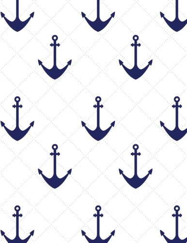 c753f960deb4 Anchor Nautical Notebook - Graph Paper - 5x5 Quad Rule: 8.5 x 11 - 101  Sheets / 202 Pages