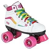 chaya Glide Rollschuhe weiß weiß/pink/unicorn, 37