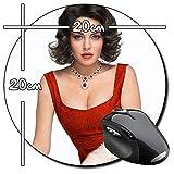 Liz & Dick Lindsay Lohan Elizabeth Taylor Tapis De Souris Ronde Round Mousepad PC