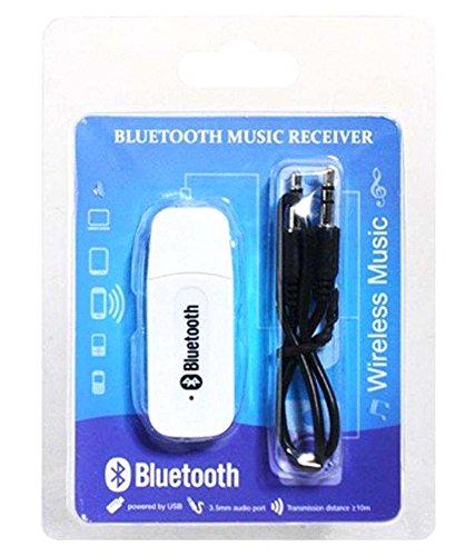 Wireless Bluetooth Receiver Adapter 3.5MM AUX Audio Stereo Music Home Hands free Car Kit  available at amazon for Rs.199