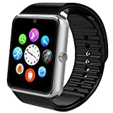 Asia Long Sport orologio Smartwatch Bluetooth Smart Watch – Braccialetto fitness con 1.54 pollici Display/Slot scheda SIM/NFC/Contapassi/sonno analisi/romte caputure per iOS smartphone Android, argento