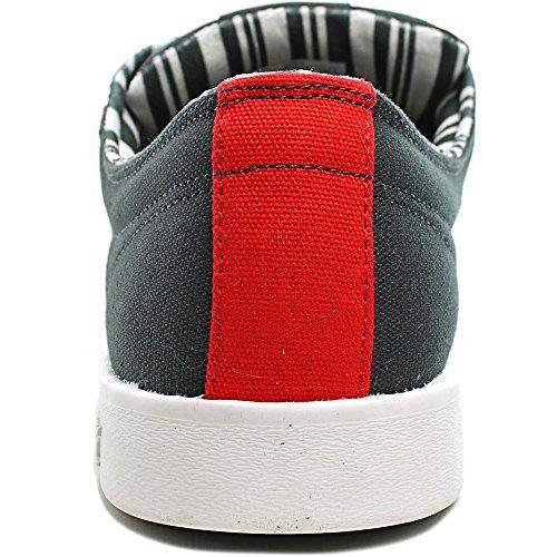 Supra  Stacks Ii, chaussons d'intérieur homme Grau (Dk. Grey-White)