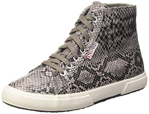 Superga 2095-Plus Cotsnakew, Sneaker, Donna, Grigio (908 Snake Grey-Dk ), 40