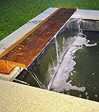 garten-wohnambiente Wasserfall Set 30 cm max. Fallhöhe 1 mtr. incl. LED-Beleuchtung aus Cortenstahl Roststahl Wasserauslauf