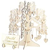 Hochzeit Gästebuch Baum Besuch Zeichen Gästebuch Holzherzen Anhänger Tropfen Ornamente Für Hochzeit Dekoration Lieferungen - Holz