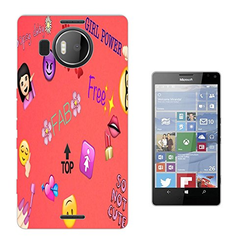 002760 - Emoji Stickers Vampire Floral Roses flowers Mae up Paws Design Microsoft Nokia Lumia 950 XL Fashion Trend Silikon Hülle Schutzhülle Schutzcase Gel Rubber Silicone Hülle