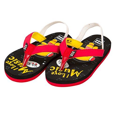Mee Mee Unisex Black Flip-Flops and House Slippers - 6 kids UK/India (21 EU)
