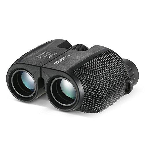 TOMSHOO Fernglas Teleskope 10x25 Zoom Kompakte Binocular Fernglas Faltbar Wasserdicht für die Vogelbeobachtung, Jagd, Reisen, Sightseeing, Klettern, Outdoor