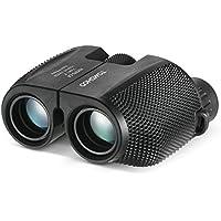 TOMSHOO Telescopio Binocular 10x25 Mini Portátil Prismáticos Ideal para Conciertos y Partido de Fútbol Incluye Correa Anchura y Bolsa de Almacenamiento