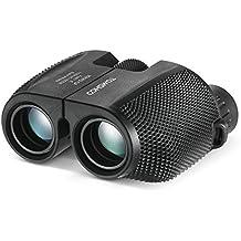 TOMSHOO 10x25 Mini Telescopio Binocular Portátil Prismáticos Ideal para Conciertos de los Pájaros y Partido de Fútbol - incluye Correa + Bolsa de Almacenamiento + Manual del Usuario + Paño de Limpieza
