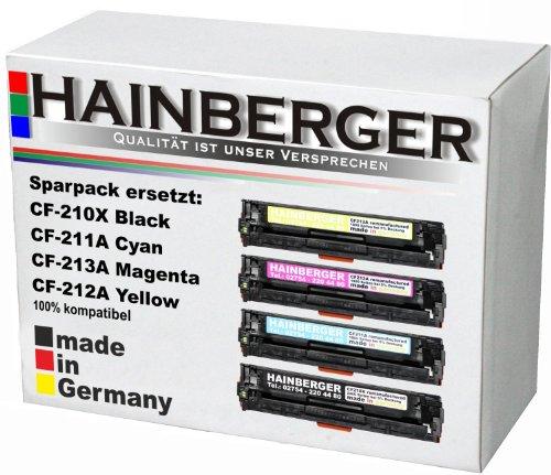 4x Hainberger Toner kompatibel zu HP CF 210X 211A 212A 213A 1x BK,C,M,Y-BK 2.400 S.,Color je 1.800 -