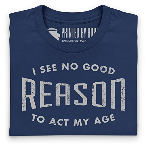 Act My Age 2 T-Shirt, Damen Dunkelblau