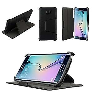 XEPTIO Etui Samsung Galaxy S6 Edge 4G Noir Ultra Slim Cuir Style avec Stand: Amazon.fr: High-tech