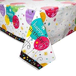 Partido Ênico 7 x 4.5 pies de plástico Ventoso Mantel Cumpleaños