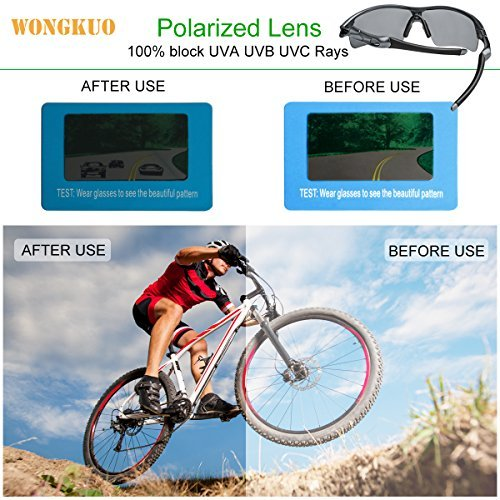 8b84b308d83f WONGKUO Polarized Outdoor Sports Glasses Men Women Cycling Sunglasses With  5 Interchangeable Lenses 100%UV
