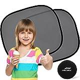 Sonnenschutz Auto Baby (2 Stück) - Sonnenblende Auto mit UV Schutz für Kinder, Hund im Rücksitz - Einfache und schnelle Anbringung an den Seitenfenster ohne Saugnapf - Sonnenschutz ist dank universale Große für die meisten PKW Seitenscheiben passgenau