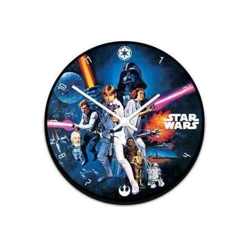 Star Wars 13.5 Cordless Wood Wall Clock