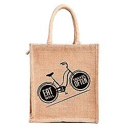 Lunch bag, eat well, travel often print