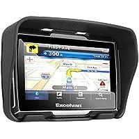 "Excelvan W4 - Navegador GPS para coches y motocicletas de 4.3"" (con Bluetooth, descargas gratuitas de mapas, 8GB memoria interna, calcular mejor ruta, pantalla impermeable, Sat Nav), Negro"