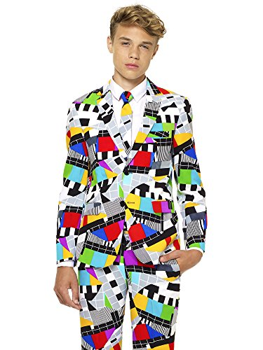 (Opposuits Crazy Suits for Boys in Different Prints – Comes with Jacket, Pants and Tie In Funny Designs)