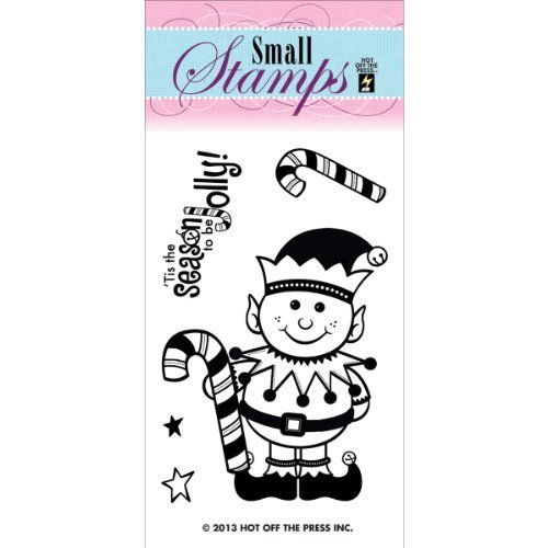 Preisvergleich Produktbild Hot Off The Press Acrylic Stamps,  2-Inch by 3.25-Inch,  Happy Elf by Hot Off The Press