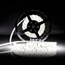 LEDMO Tira LED, Tira LED Blanco 6000K 12V SMD2835-300led IP65 Impermeable 15Lm/led tira led de alta luminosidad 5 metros CRI80 para la iluminación del gabinete de cocina, dormitorio, TV iluminación decorativa