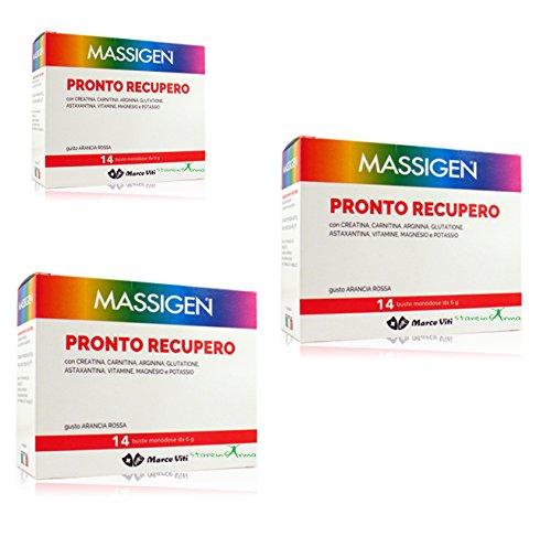 3 MASSIGEN bereit Einholung 14 BST Magnesium und Kalium Nahrungsergänzung Kämpfe l'Müdigkeit ohne Gluten, Laktose, Farbstoffe
