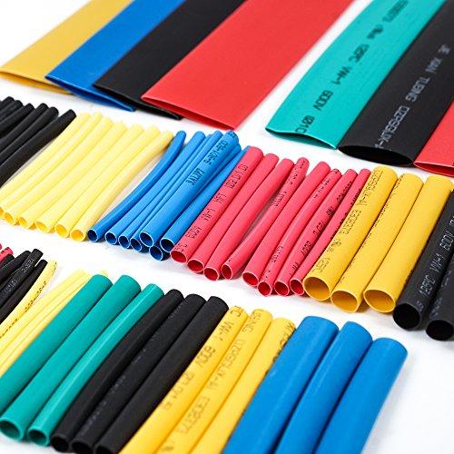 Mintice/™ 50 M/ètre Noir 1//16 6mm 2:1 Fil thermor/étractable Tube dassortiment denveloppement de fil de tube