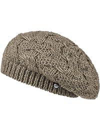Lierys Baskenmütze Jesila Strickbaske für Damen Wintermütze Wollmütze Damenmütze Herbst Winter