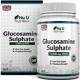Glucosamina Solfato 1500 mg 2KCl, 365 Compresse (Scorta Per 1 Anno) | Alto Dosaggio | Prodotto nel Regno Unito da Nu U…