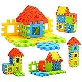 Adichai Kids Non Toxic Material Happy Home House Building Block Toys (Multicolour)