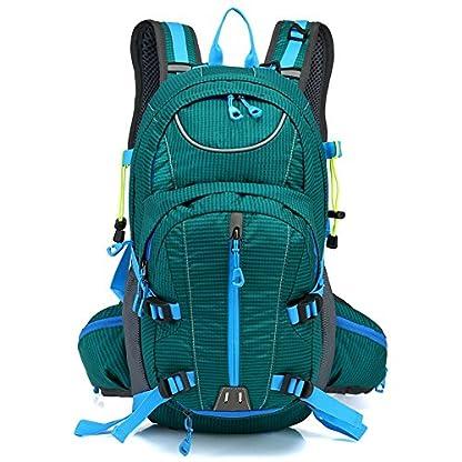 Beibao Mochila de nylon impermeable multifuncional hombres y mujeres deportes ocio bolsa de viaje mochila bandolera