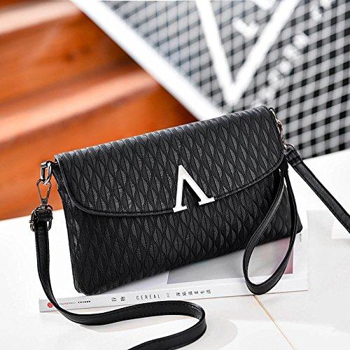 LiZhen Ms. flussi di pacchetti la nuova Europa e il design elegante e il temperamento versatile pacchetto a mano singola Mini borsa a tracolla è un piccolo pacchetto di autunno V-nero confezione regalo