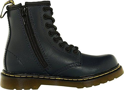 Dr.Martens Kids Delaney 8-Eyelet T Lamper Leather Boots Blau