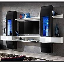 Muebles Bonitos –Mueble de salón modelo Nilson color blanco y negro